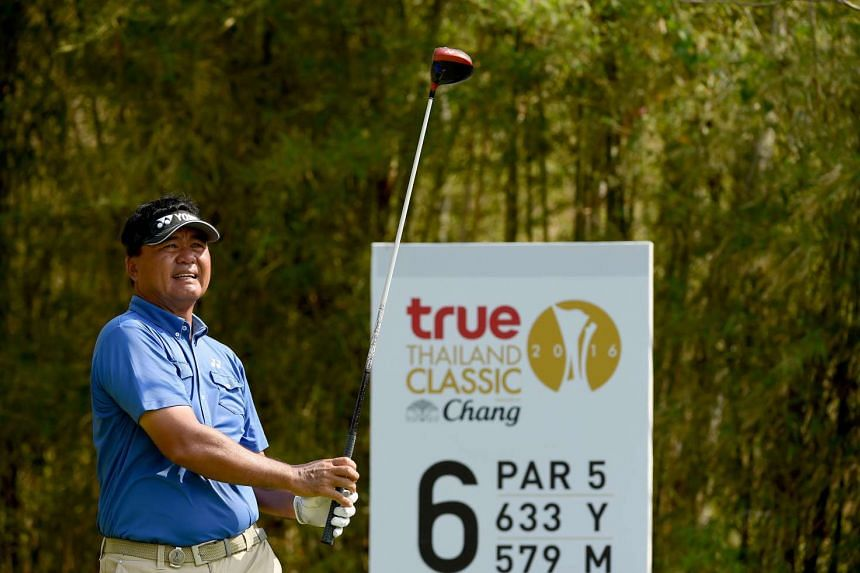 Mardan Mamat at the True Thailand Classic golf tournament in Hua Hin on March 9.