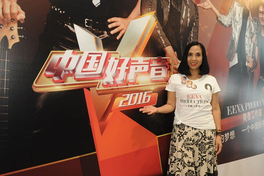 Veteran radio deejay Eeva Chang Mei Hsiang (above) is the organiser of the auditions in Singapore.