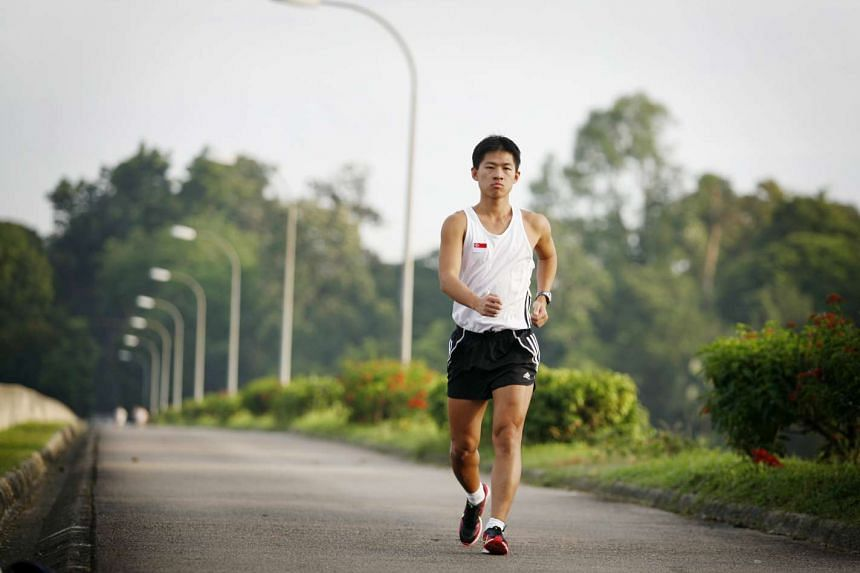 Edmund Sim Soo Chye set a new national record in the Asian 20km Race Walking Championships with a time of 1hr 34min 49sec