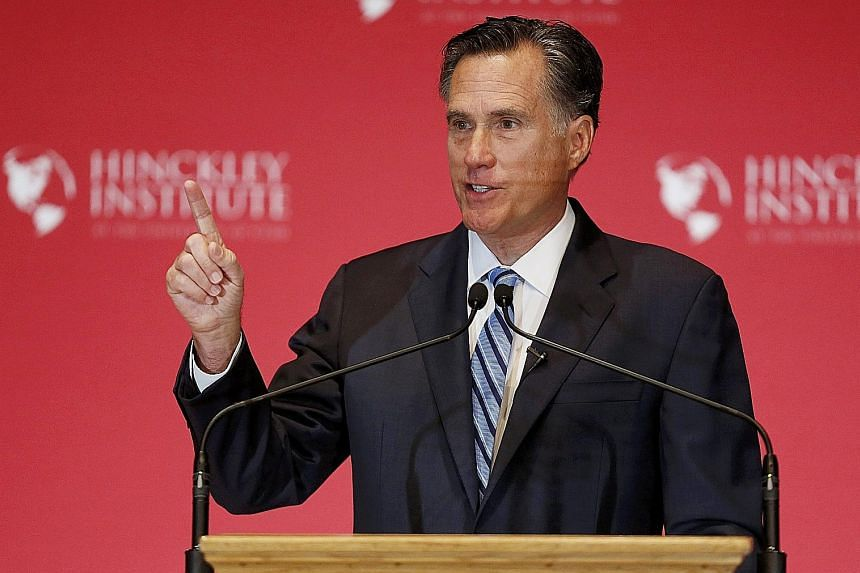"""Mr Mitt Romney said """"Trumpism"""" has become associated with racism, xenophobia, violence and more."""