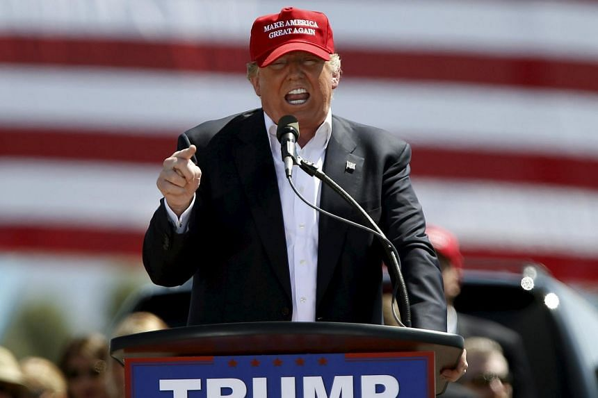 Republican presidential candidate Donald Trump speaks at a campaign rally in Arizona, on March 19, 2016.