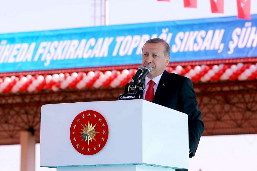 Turkish President Recep Tayyip Erdogan vowed to crush Islamic State terrorists and Kurdish rebels.