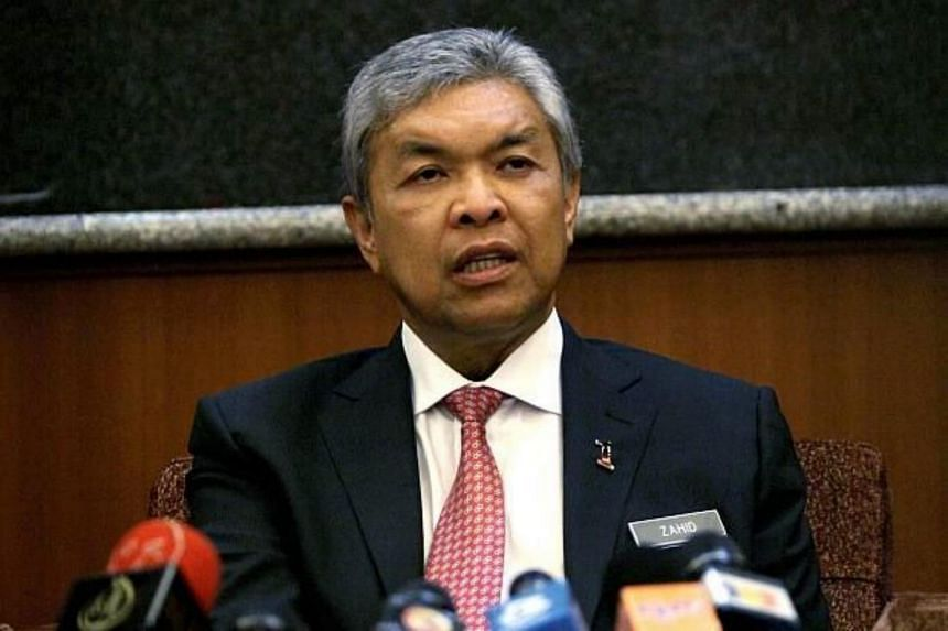 Malaysia Home Minister Ahmad Zahid Hamidi during a Parliament meeting on Monday.