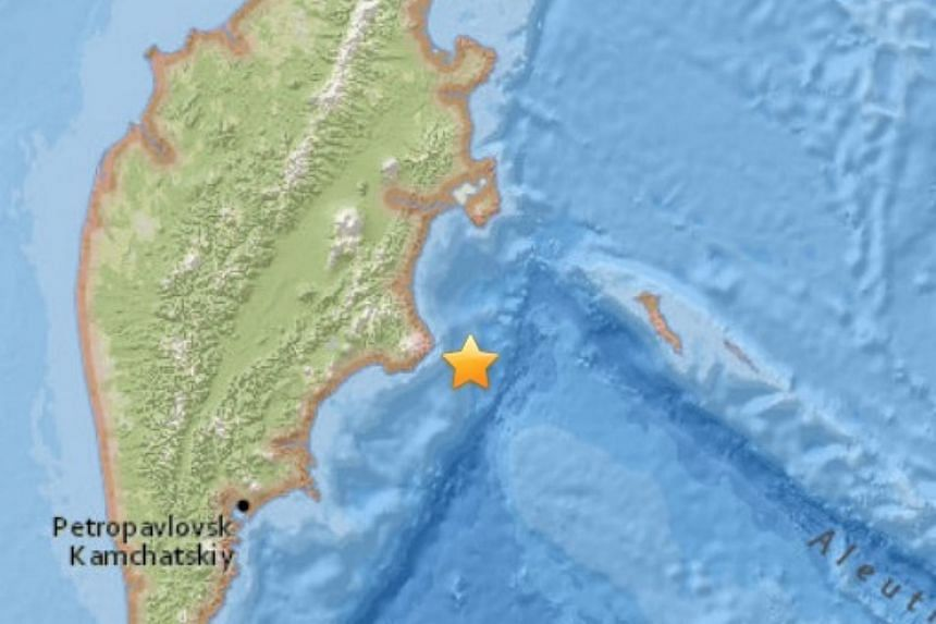 A large, magnitude 6.6 earthquake hit in the Pacific Ocean off Russia's Kamchatka Peninsula, on March 20, 2016.
