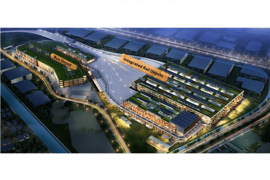 An artist's impression of the East Coast Integrated Depot.