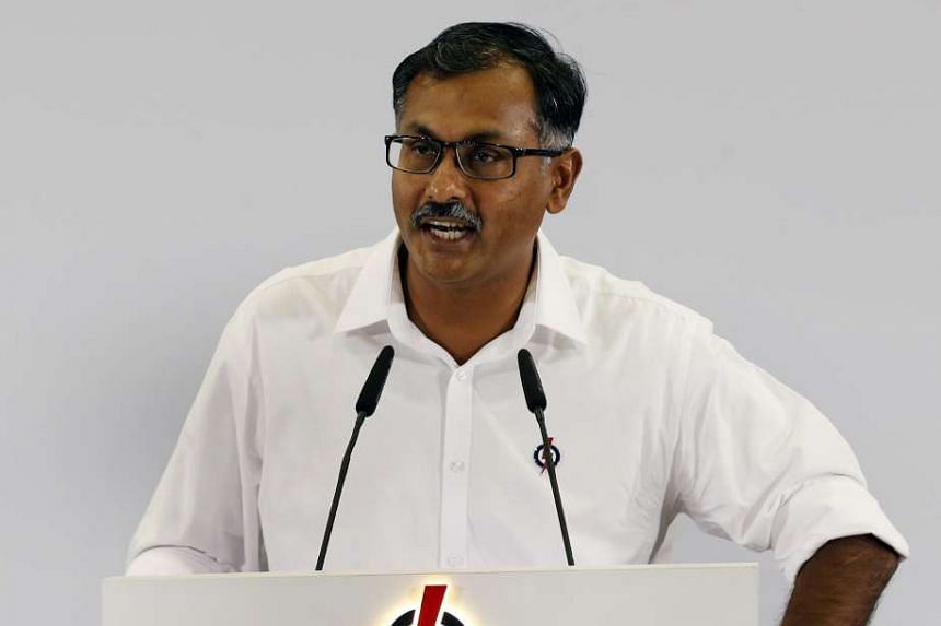 Mr K. Muralidharan Pillai speaking at the launch of the PAP's manifesto on Aug 29, 2015.