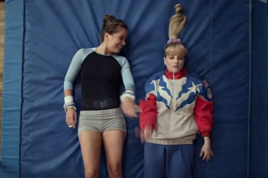 Melissa Rauch (left) plays foul-mouthed gymnast Hope Annabelle Greggory in The Bronze.