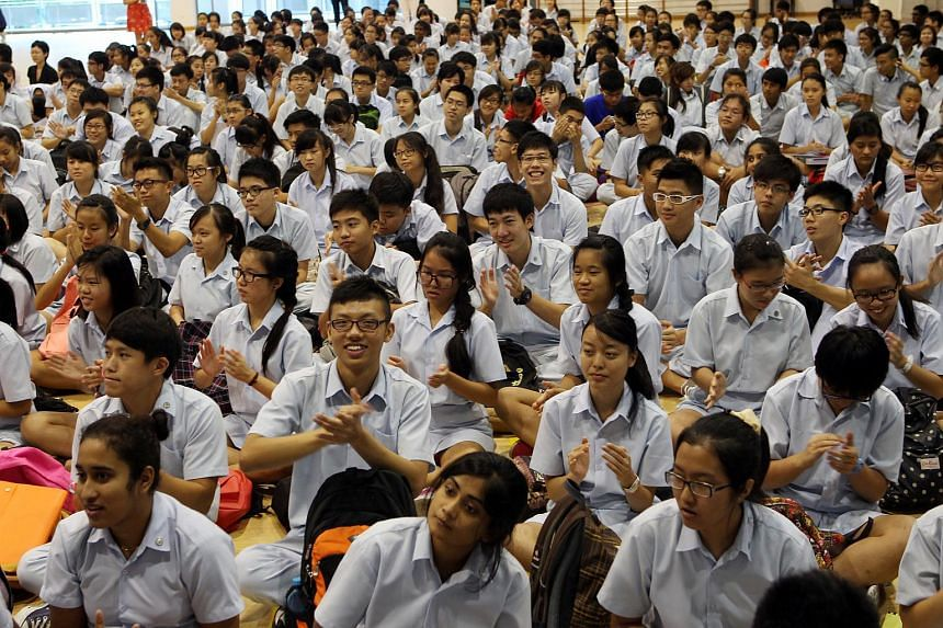 Meridian Junior College (MJC) students at a Straits Times talk leading up to The Big Quiz in 2013.