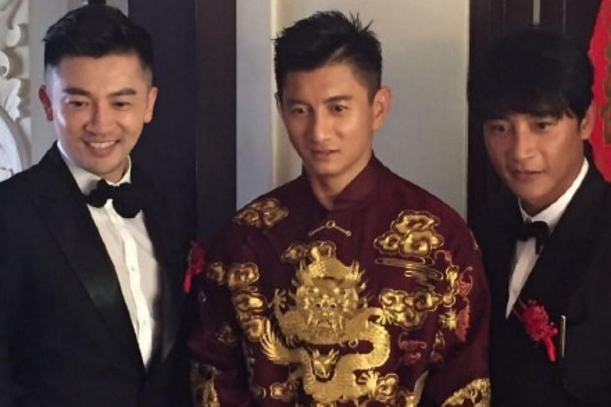 Nicky Wu with his best men, fellow Little Tigers Alec Su and Julian Chen.