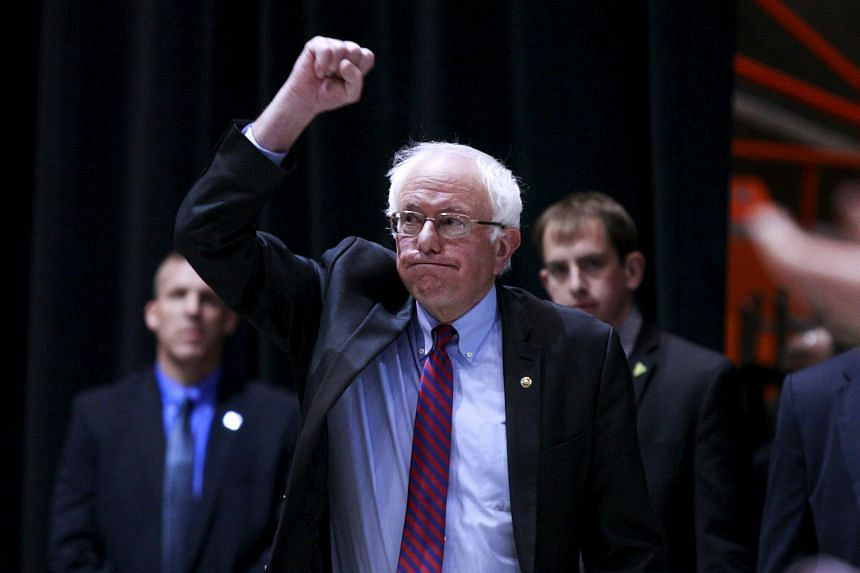 Democratic US presidential candidate Bernie Sanders during a rally in Boise, Idaho, on March 21.