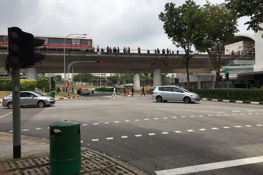 SCDF officers on the track near Pasir Ris MRT on March 22.