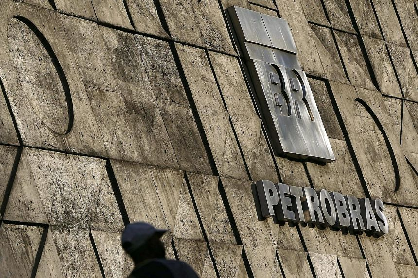 The red ink at Petrobras was driven by a 46 per cent decline in the price of benchmark Brent crude oil.
