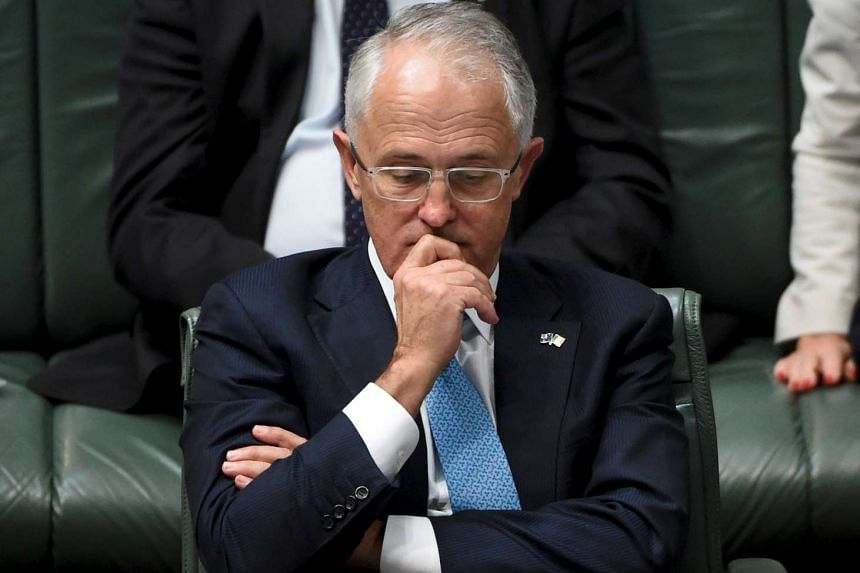 Australian Prime Minister Malcolm Turnbull reacting during Question Time in the House of Representatives in Canberra last Thursday. Mr Turnbull has failed to push through fiscal and industrial relations reforms with a hostile Senate blocking major le