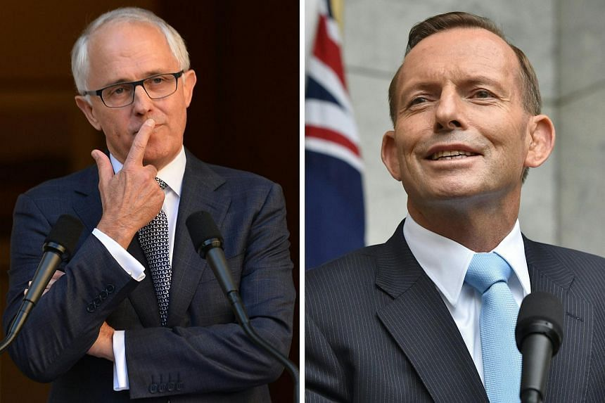 Australian Prime Minister Malcolm Turnbull (left) on Tuesday (March 22) slapped down his predecessor Tony Abbott who claimed credit for policies the government is taking to upcoming elections.