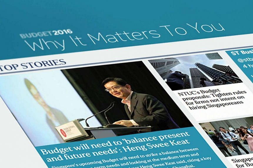 Get real-time updates and expert analyses by following The Straits Times' coverage of Budget 2016 announcements on our Budget microsite.