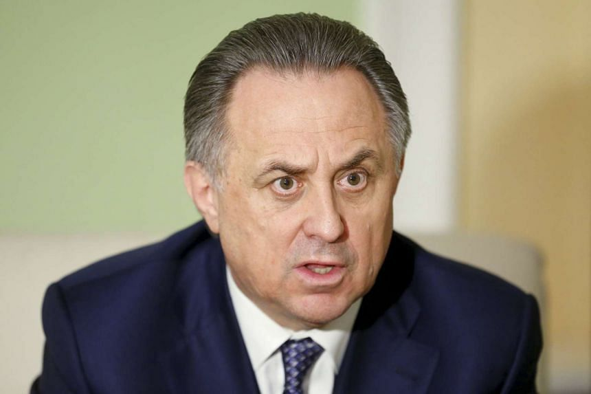 Russian Sports Minister Vitaly Mutko speaks during an interview with Reuters in Moscow, Russia, in this March 11, 2016 file photo.