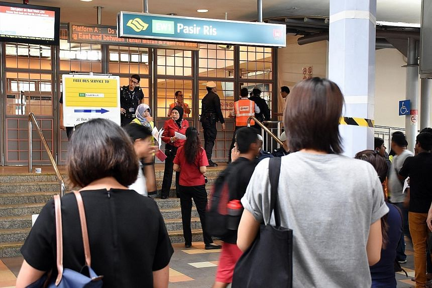 Pasir Ris MRT station was temporarily closed after the incident, with SMRT staff directing people to free bus and shuttle services. Train service recovered at slower speeds at around 1.55pm, and normal service resumed at around 2.10pm.
