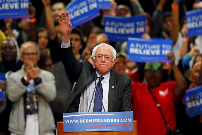 Bernie Sanders (above) defeated Hillary Clinton in Utah's Democratic caucuses on March 23, 2016.