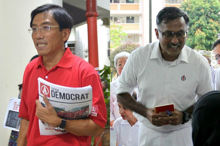 The two candidates for Bukit Batok - SDP's Chee Soon Juan (left) and PAP's Murali Pillai - have begun pounding the streets in the single-member constituency to woo its 27,000 voters.