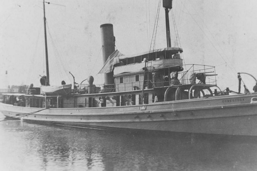 The USS Conestoga in San Diego, California, in early 1921, shortly before it disappeared.