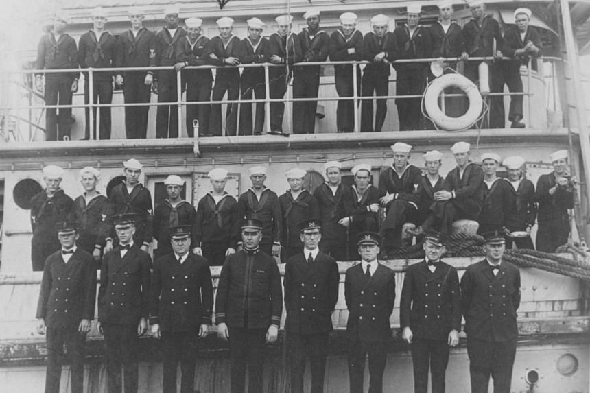 The crew of the USS Conestoga in early 1921.