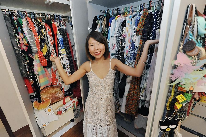 Marketing manager Joanne Chua (above) has more than 100 necklaces.