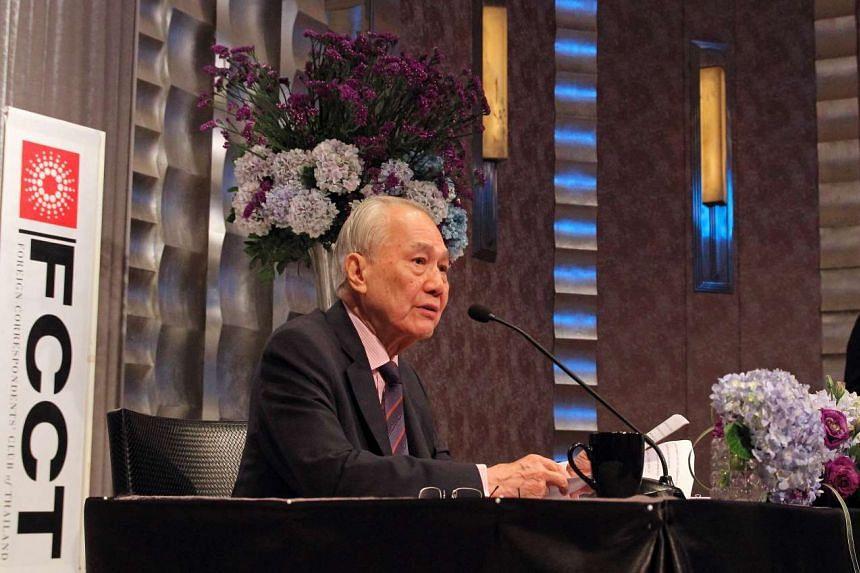 Anand Panyarachun, former Thailand PM, speaking in Bangkok on March 23, 2016.