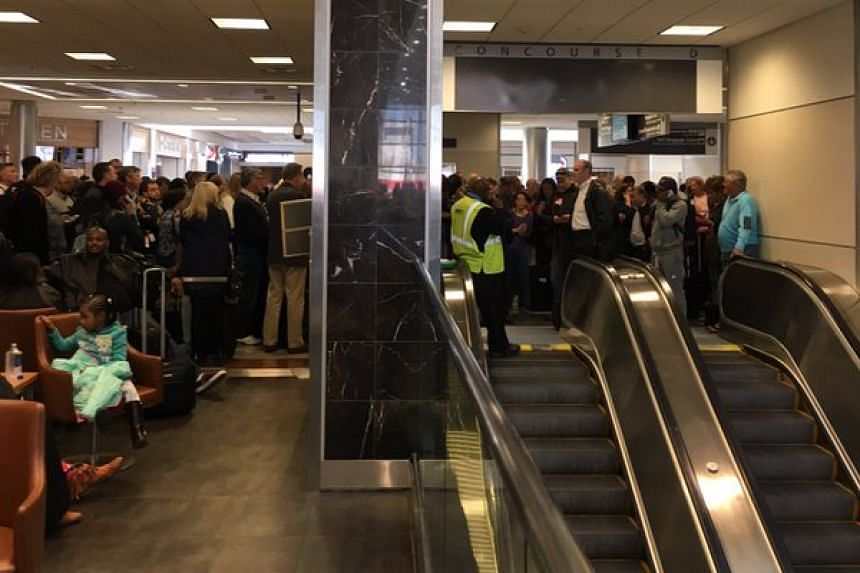 A picture of the scene at Atlanta's airport posted to Twitter.