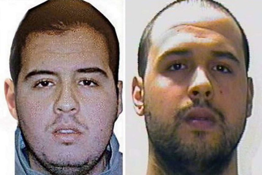 Brothers Brahim El Bakraoui (left) and Khalid El Bakraoui in photos released by Interpol.