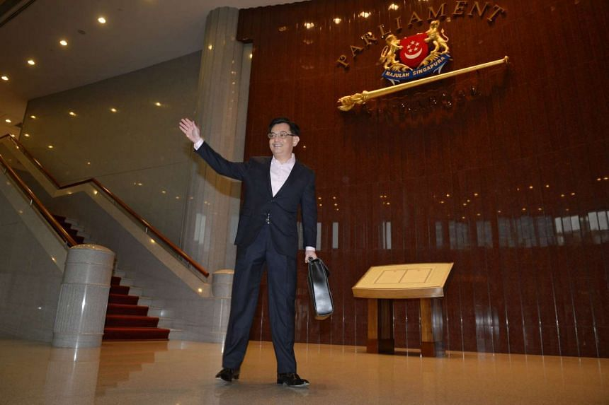 Minister for Finance, Mr Heng Swee Keat, arrives at Parliament House on March 24, 2016.