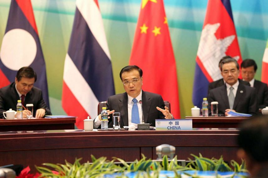 Chinese Premier Li Keqiang speaks during Lancang-Mekong cooperation leaders' meeting in Sanya, on March 23, 2016.