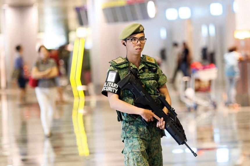 Security has been beefed up at Changi Airport and other Singapore checkpoints, following Tuesday's (March 22) blasts at Brussels Airport and a city metro station.
