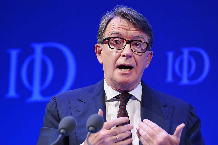 LORD PETER MANDELSON (above )