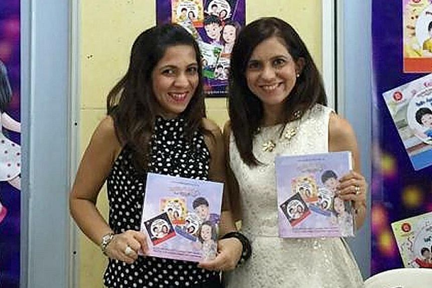 Civil servant Dadlani-Ramchand (right) and her sister, Ms Dadlani-Dhalani, tapped on the SG50 Celebration Fund to write and publish a children's book series about Singapore. Friends Mr Quek and Mr Ang, with the help of 600 volunteers, took 100 wheelc
