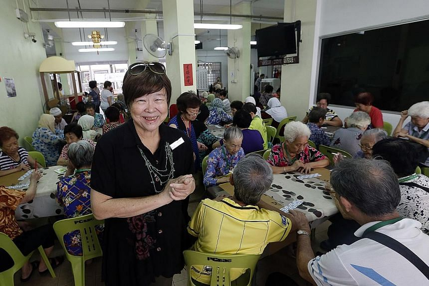 Mrs Tan is cluster director of Peace-Connect, a voluntary welfare organisation that has looked after needy seniors in Kampong Glam since 1995. It started out as a three-man outfit taking care of fewer than 500 seniors; now, it has 17 full-time employ