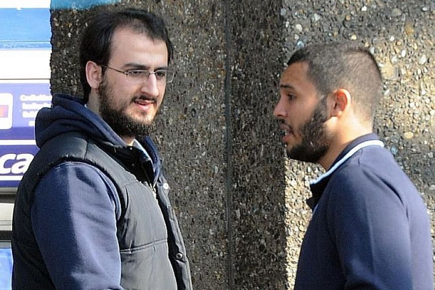 An undated photo released by London police showing Hassane (right) and Majeed while they were under surveillance.