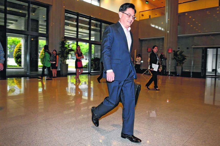 Minister for Finance, Mr Heng Swee Keat, arrives at Parliament House, on March 24, 2016.