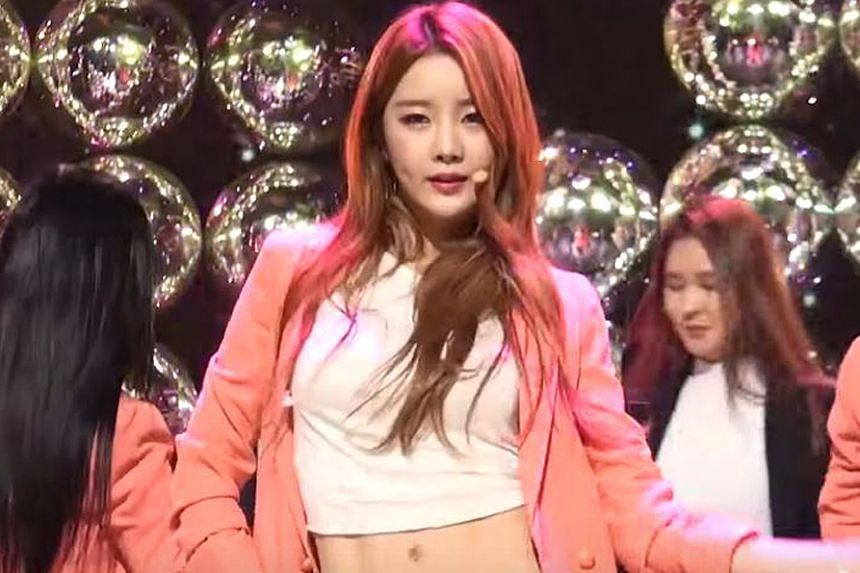 Subin of girl group Dal Shabet, one of the K-pop singers who released statements decrying the rumours.