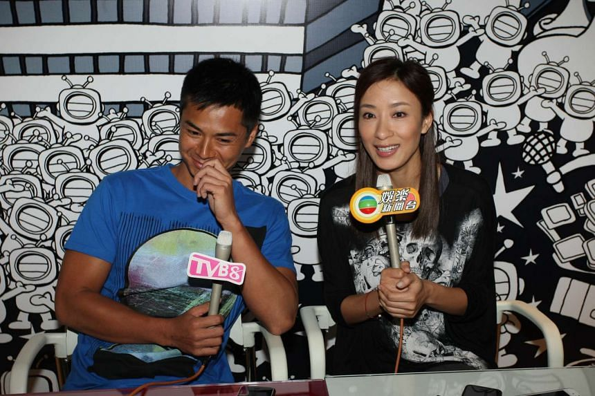 TVB stars Tavia Yeung and Him Law in 2012.