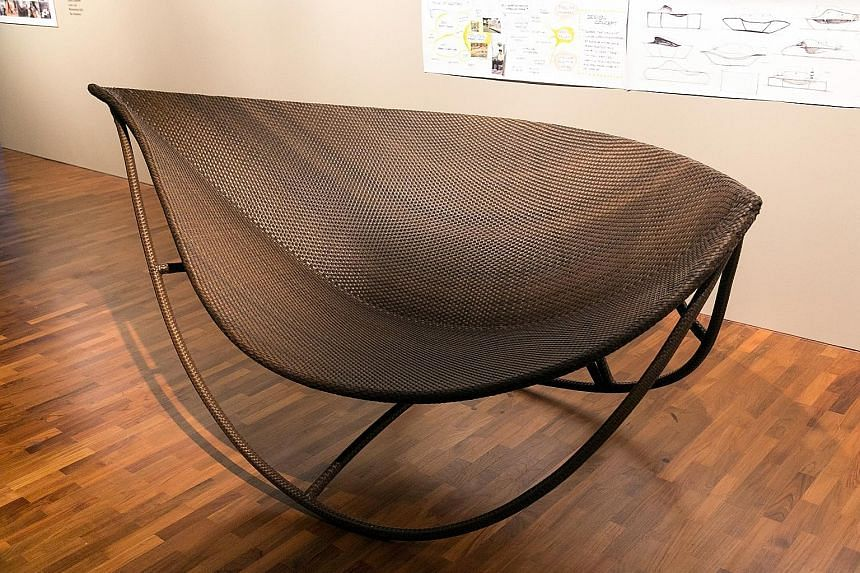 Interesting pieces include a daybed modelled on a leaf (above).