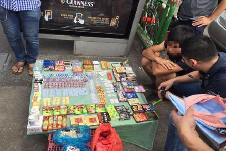 Vendors caught selling illegal sexual enhancement products.