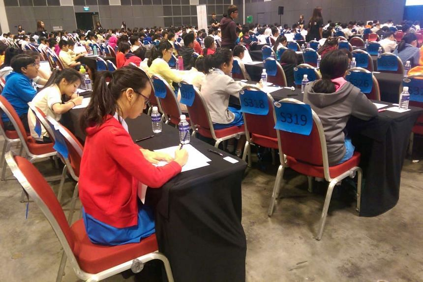 Around 1,800 pupils took part in the first round of the RHB-The Straits Times National Spelling Championship on Saturday (March 26) morning.