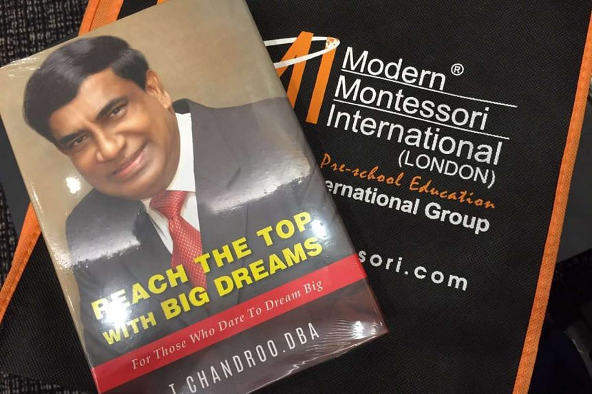 Book cover of Reach The Top With Big Dreams by Dr T Chandroo.
