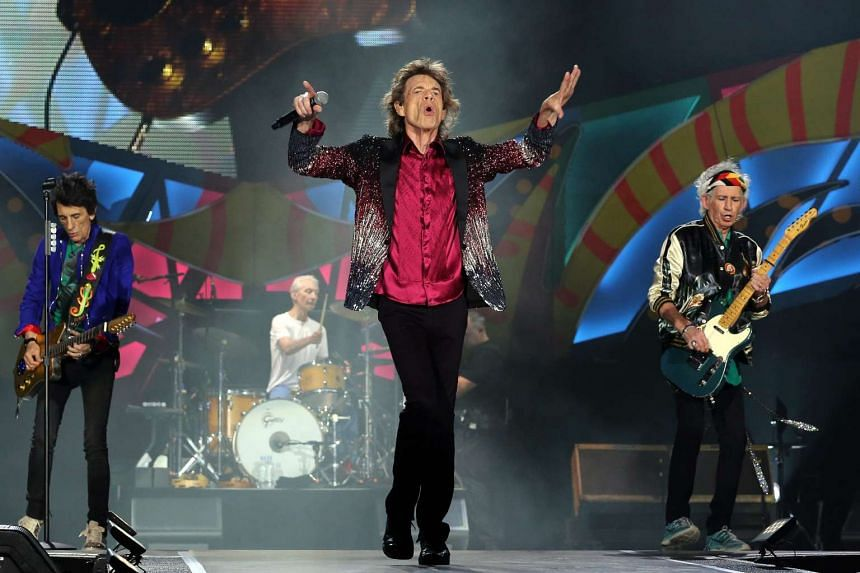 British band The Rolling Stones perform during a free concert in Havana, Cuba, March 25, 2016.