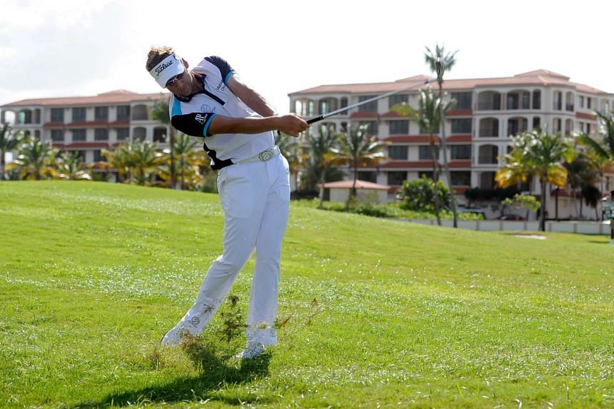Ian Poulter of England during the third round of the Puerto Rico Open at Coco Beach on March 26, 2016 in Rio Grande, Puerto Rico.