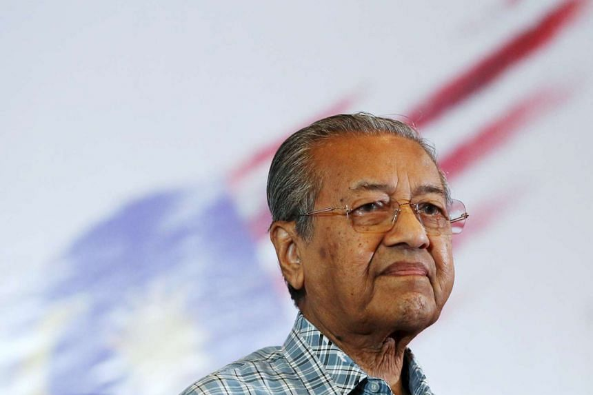 Former Malaysian prime minister Mahathir Mohamad attending a meeting of political and civil leaders looking to change the government, in KL on March 27, 2016.