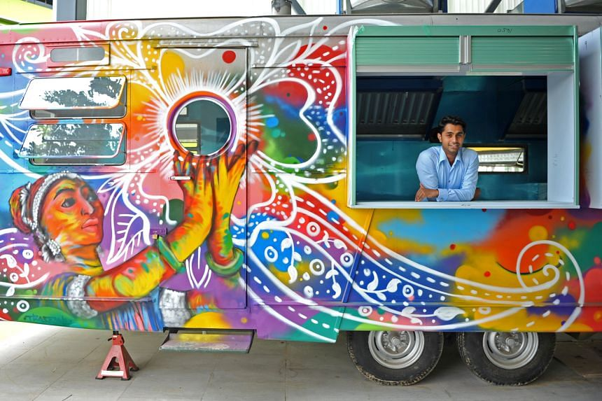 Gayatri COO S. Mahenthiran (above) is targeting busy executives with customised Indian wraps.
