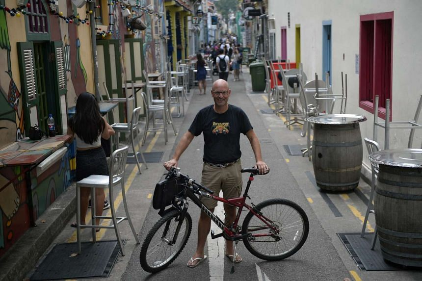 Mr Leus, a Dutch entrepreneur who owns events company TVworkshop Asia, says he saves on travel costs as ''I cycle everywhere I go and it's great''. Many expats interviewed say they have fallen in love with Singapore's public transport and explained t