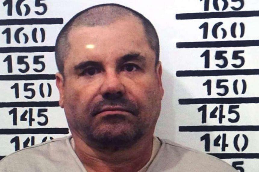 """Handout police photograph of Joaquin """"El Chapo"""" Guzman as he was imprisoned in Almoloya de Juarez, taken on Jan 8, 2016."""