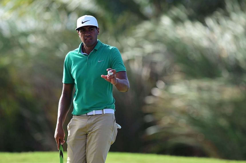 Tony Finau during the final round of the Puerto Rico Open at Coco Beach on March 27, 2016 in Rio Grande, Puerto Rico.